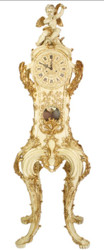 Casa Padrino Baroque luxury standing clock with angel cream / gold 205 cm - noble & sumptuous