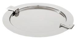 Casa Padrino Tablett / Serviertablett Silber Ø 33 x H. 2 cm - Luxus Gastronomie Accessoires