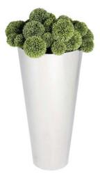 Casa Padrino stainless steel planter silver Ø 33 x H. 70 cm - Luxury Flowerpot