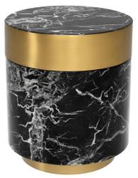 Casa Padrino side table black / brass Ø 45 x H. 53 cm - Luxury Quality