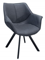 Casa Padrino designer dining chair antique gray with armrests - Hotel Restaurant Möbel Gastronomie