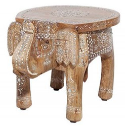Casa Padrino designer footstool natural elephant 28 x 40 x h. 31 cm - unique