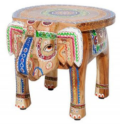 Casa Padrino designer footstool colorful elephant 38 x 50 x h. 36 cm - unique