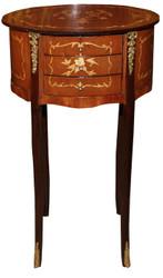 Casa Padrino Baroque Concrete Telephone Table Mahogany Brown
