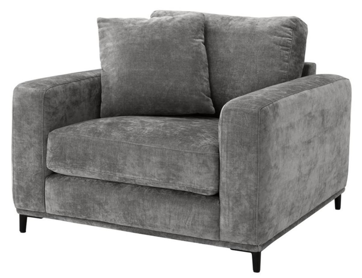 Entzuckend Casa Padrino Luxus Wohnzimmer Sessel Grau / Schwarz 105 X 102 X H. 80 Cm    Wohnzimmermöbel