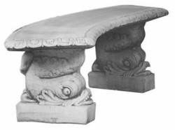 Casa Padrino Bench / Garden Bench Gray 140 x H. 45 cm - Curved Garden Concrete Bench Oriental Style