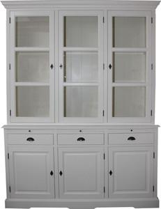 Casa Padrino Country Style Kitchen Cabinet White 167 x 51 x H. 219 cm - 2 Piece Kitchen Cabinet – Bild