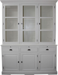 Casa Padrino Country Style Kitchen Cabinet White 167 x 51 x H. 219 cm - 2 Piece Kitchen Cabinet