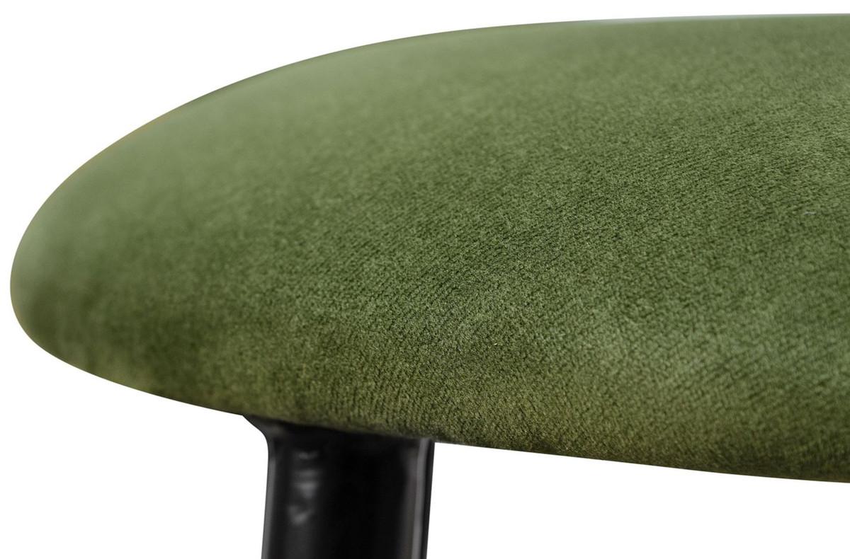 Casa padrino sgabello da bar di lusso verde muschio nero Ø x