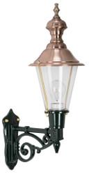 Casa Padrino aluminum exterior wall lamp exterior lantern black / copper 19 x 32.5 x H. 56 cm - Handcrafted Nostalgic Garden Terassen Balcony Light
