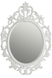 Casa Padrino Baroque Wall Mirror White / Gold 58 x H. 84 cm - Baroque Style Mirror with Wooden Frame