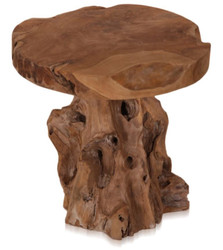 Casa Padrino Luxury Stool Brown Ø 40 cm - Round Teak Stool