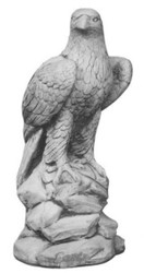 Casa Padrino Beton Adler Skulptur Grau H. 60 cm - Garten & Terrassen Deko