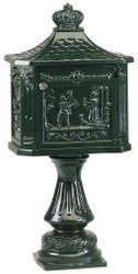 Casa Padrino Art Nouveau Stand Letterbox 38 x 27 x H. 78 cm - Various Colors - Weatherproof Nostalgic Mailbox