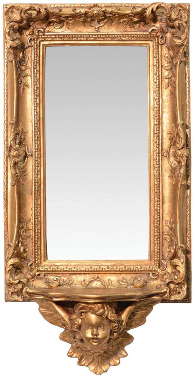 Casa Padrino Barock Spiegel Mit Unterbau Konsole Gold 345 X H 68