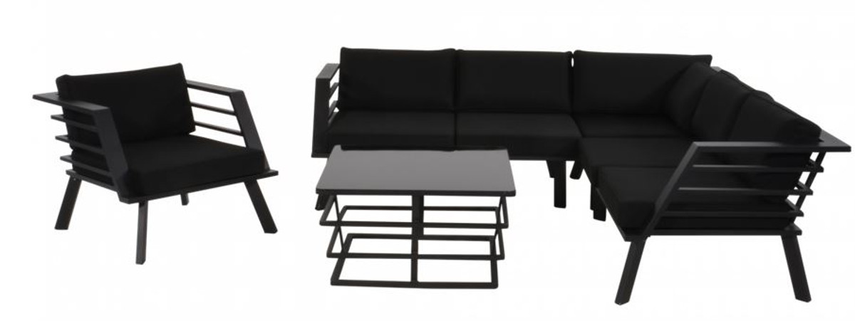 Wunderbar Casa Padrino Garden Furniture Set With Upholstery + Armchair + Table    Lounge Set