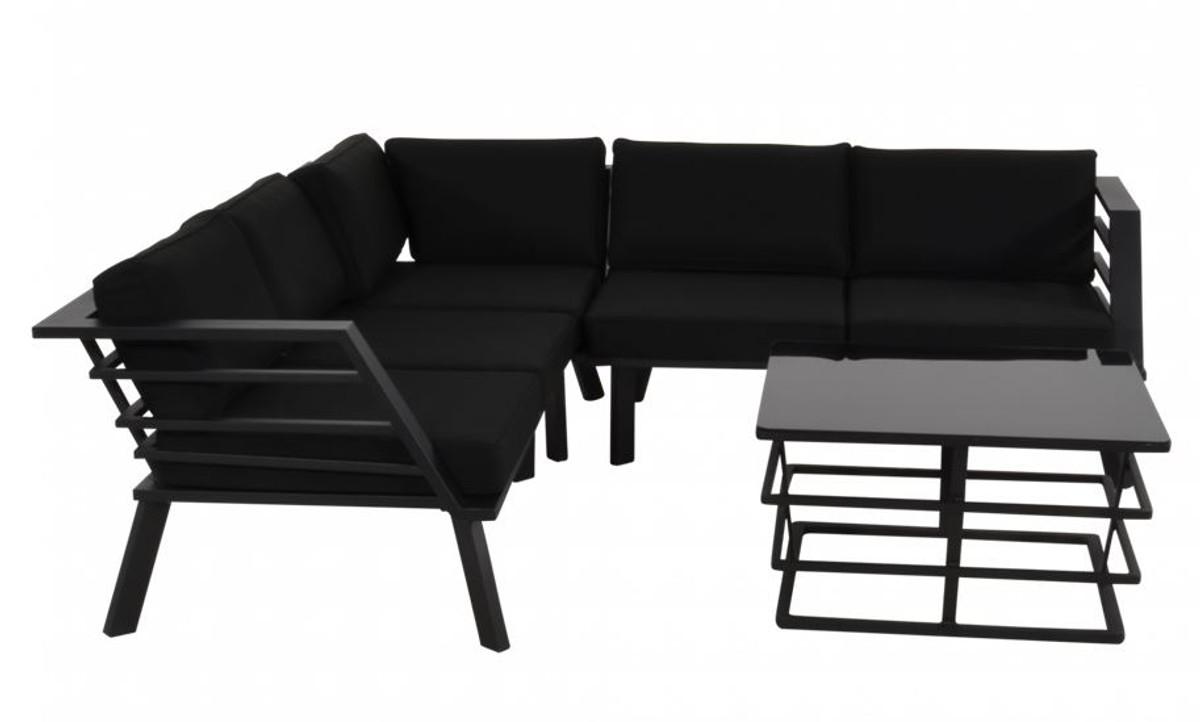 Casa Padrino meubles de jardin avec sellerie + fauteuil + table - ensemble  de salon