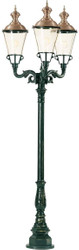 Casa Padrino Art Nouveau Garden Lantern 83 x 83 x H. 248 cm - Various Colors - Luxury Way Entrance Outdoor Floor Lamp