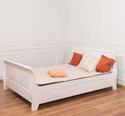 Casa Padrino country house bed old white 140 x 200 cm - bedroom furniture in the country house style