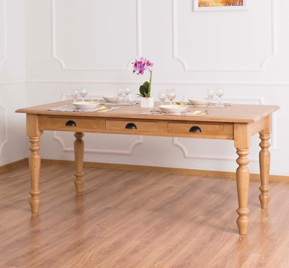 Casa Padrino Country Style Dining Table Natural Color 180 X 90 X H 78 Cm Country Style Dining Room Furniture