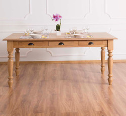 Casa Padrino country style dining table natural color 180 x 90 x h. 78 cm - country style dining room furniture