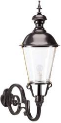 Casa Padrino Jugendstil Außenwandleuchte / Außenlampe Schwarz 37 x 76 x H. 105 cm - Luxus Qualität