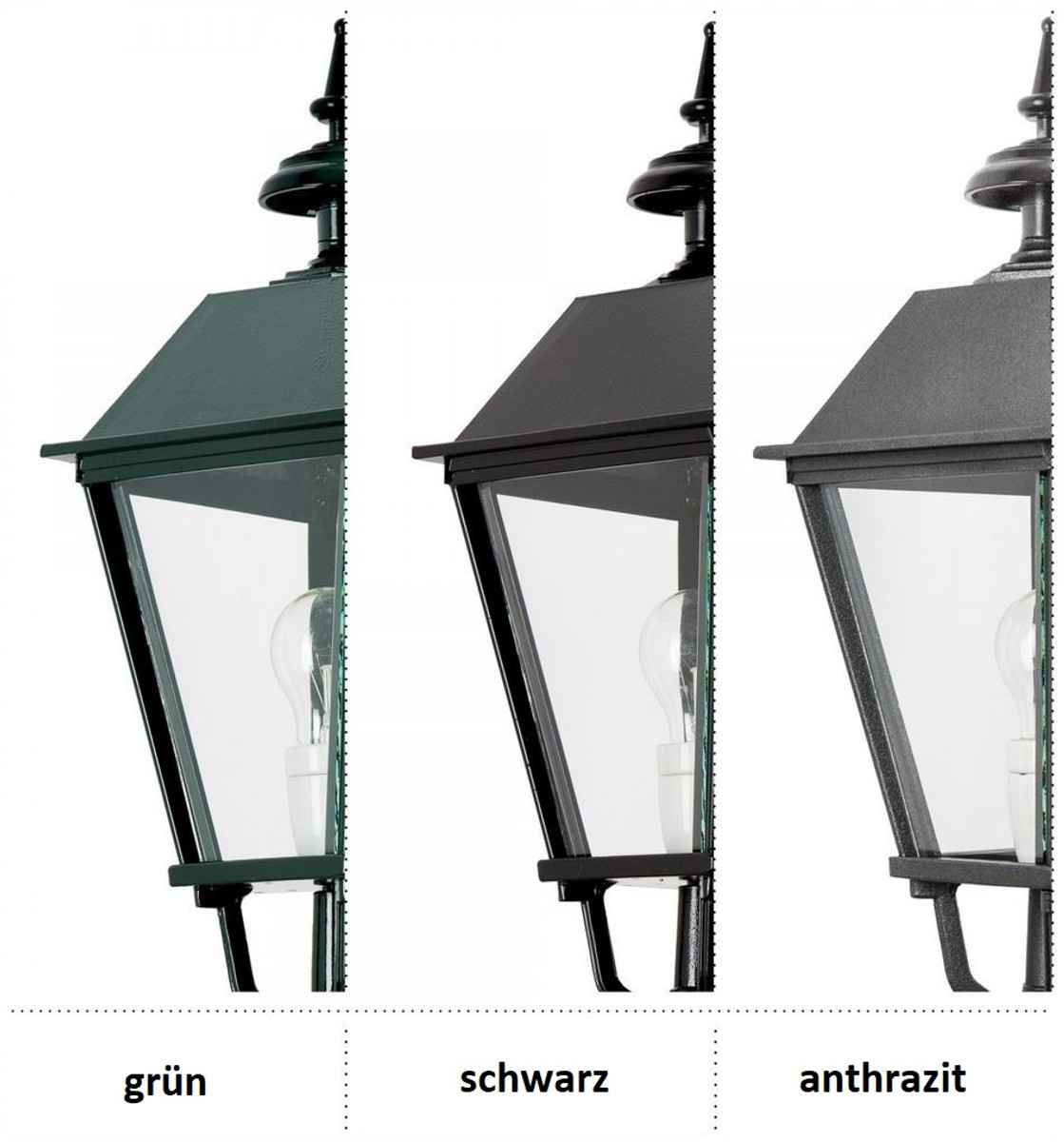Casa Padrino Barock Außenstehleuchte 82 x 82 x H. 290 cm - Verschiedene Farben - Luxus Außenbeleuchtung 3