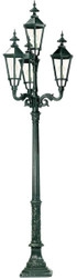 Casa Padrino baroque outdoor floor lamp 82 x 82 x H. 290 cm - Various Colors - Luxury Outdoor Lighting