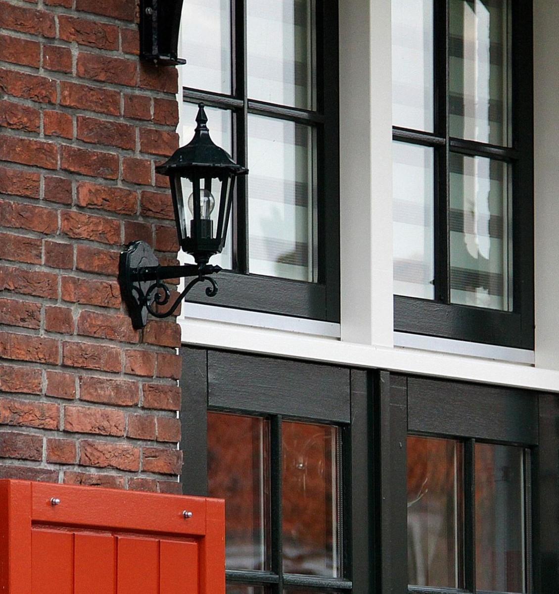 Casa Padrino Jugendstil Aluminium Außenwandleuchte / Außenlaterne 20 x 27 x H. 43 cm - Verschiedene Farben - Balkon Garten Terrassen Außenleuchte 2