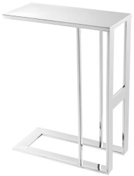 Casa Padrino Luxury Designer Stainless Steel Side Table Silver 45 x 23 x H. 60 cm - Designer Furniture