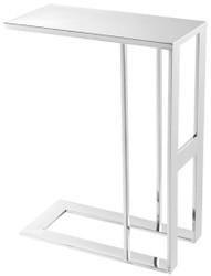Casa Padrino Luxus Designer Edelstahl Beistelltisch Silber 45 x 23 x H. 60 cm - Designermöbel