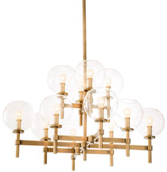 Casa Padrino luxury chandelier antique brass 80 x 80 x H. 60 cm - Hotel & Restaurant Furniture