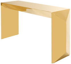 Casa Padrino Luxury Designer Console / Console Table Gold 155 x 45 x H. 76 cm - Designer Furniture