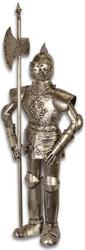Casa Padrino medieval armor with lance antique silver H. 92 cm - Deco Iron Armor