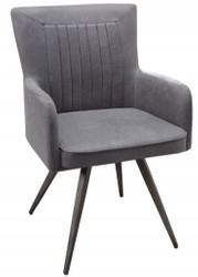 Casa Padrino Design Dining Chair Vintage Gray 59 cm x 61 cm x H. 90 cm - Dining room furniture