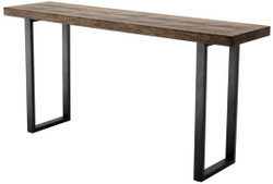 Casa Padrino console brown / bronze 161 x 40 x H. 78 cm - Luxury Living Room Console Table with Oak Veneer Top