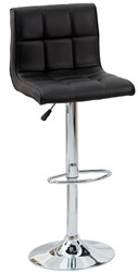 Casa Padrino Designer Barstool Faux Leather Black - Bar Stools - Furniture Restaurant Hotel
