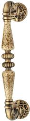 Casa Padrino baroque door handle brass patinated 4.6 x H. 27.4 cm - Baroque Style Door Handle with Noble Porcelain