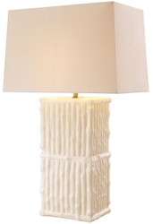 Casa Padrino luxury ceramic table lamp white / cream 44 x 27 x H. 71 cm - Hotel & Restaurant Table Lamp