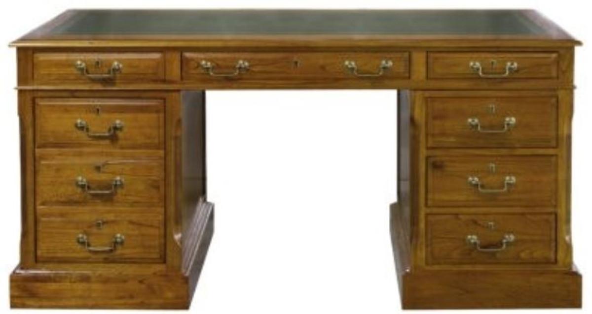 Casa Padrino Luxus Schreibtisch mit Tür und 6 Schubladen Braun ...