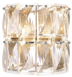 Casa Padrino luxury crystal glass wall lamp silver 31 x 18 x H. 31 cm - Hotel & Restaurant Wall Light