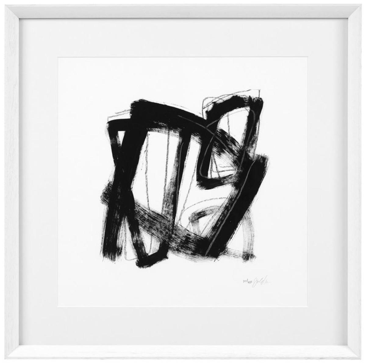 casa padrino designer deko bilder 4er set schwarz wei 58 x h 58 cm luxus kunstdrucke. Black Bedroom Furniture Sets. Home Design Ideas