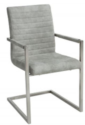 Casa Padrino designer cantilever chair Stone Gray - dining chair - modern living room chair
