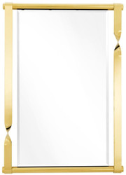 Casa Padrino Designer Stainless Steel Mirror / Wall Mirror Gold 95 x 9 x H. 134 cm - Designer Furniture