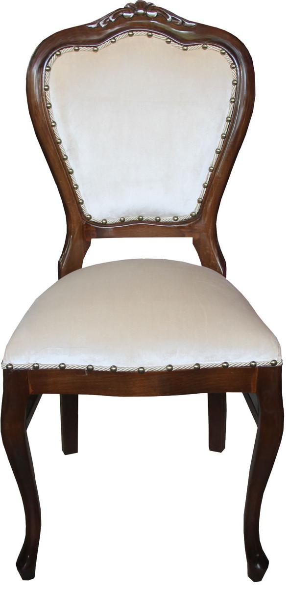 casa padrino barock luxus damen stuhl braun creme. Black Bedroom Furniture Sets. Home Design Ideas