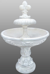 Casa Padrino Art Nouveau Fountain / Garden Fountain Ø 108 x H. 156 cm - Decorative Artificial Stone Fountain