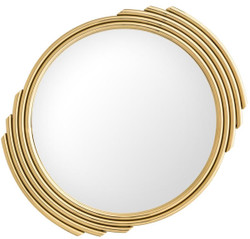 Casa Padrino designer stainless steel mirror gold Ø 100 cm - Luxury Living Room Wall Mirror