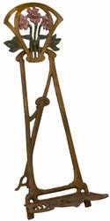 Casa Padrino Jugendstil Gusseisen Staffelei Antik Braun Rostoptik / Mehrfarbig H. 42,5 cm - Barock & Jugendstil Deko Accessoires