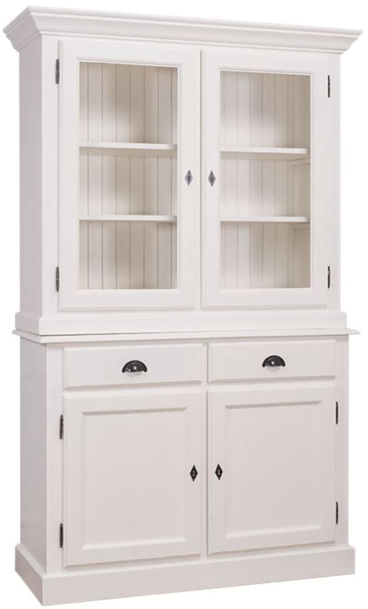 Casa Padrino Landhausstil Küchenschrank Weiß 128 X 45 X H 200 Cm