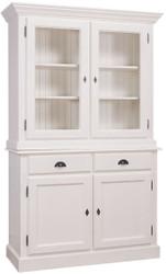 Casa Padrino Country Style Kitchen Cabinet White 128 x 45 x H. 200 cm - Country Style Kitchen Furniture